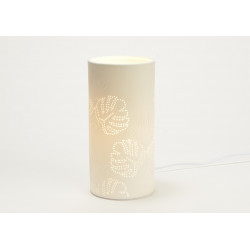 """Lampe en biuscuit de porcelaine """"Palme"""""""