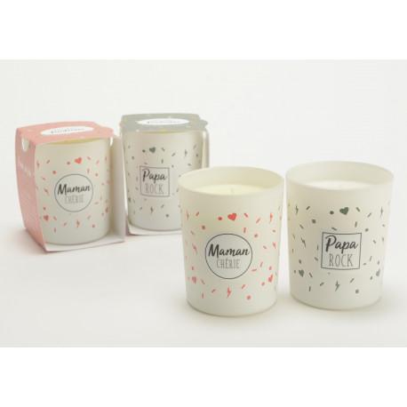 Bougies parfumées à messages